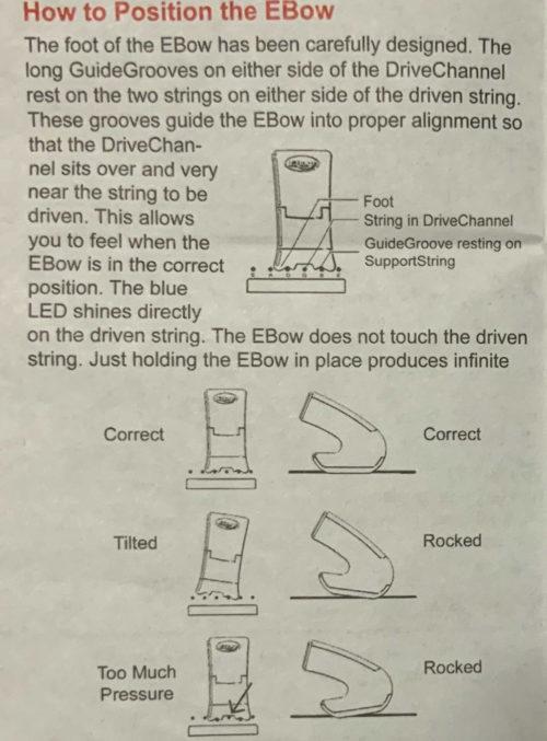 EBowの説明書
