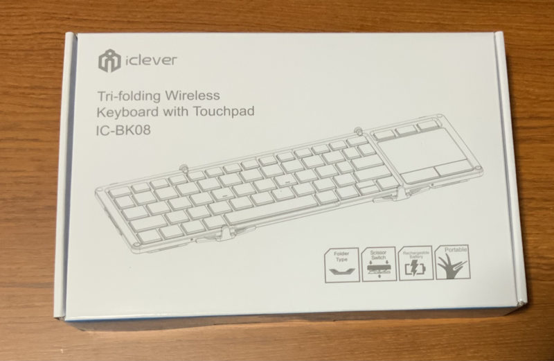 iclever IC-BK08の箱
